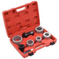 vidaXL 8 pcs kit de expansão do tubo de escape aço carbono e alumínio