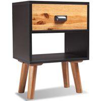 vidaXL Mesa de cabeceira em madeira de acácia sólida 40x30x58 cm