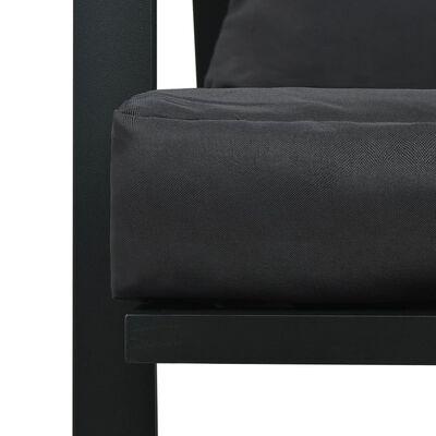 vidaXL 5 pcs conjunto lounge jardim + almofadões alumínio cinza-escuro