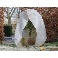 Nature Protetor plantas contra geada c/ fecho 70g/m² 3x2,5x2,5 m bege