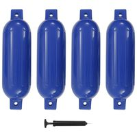 vidaXL Defensas de barco 4 pcs 51x14 cm PVC azul