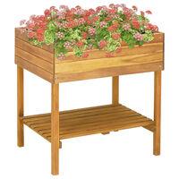 vidaXL Vaso de jardim elevado 78,5x58,5x78,5 cm madeira acácia maciça