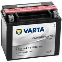 Varta Bateria para mota Powersports AGM YTX12-4/YTX12-BS