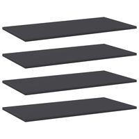 vidaXL Prateleiras para estante 4 pcs 80x40x1,5cm contraplacado cinza