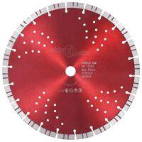 vidaXL Disco de corte de diamante com turbo e orifícios aço 300 mm