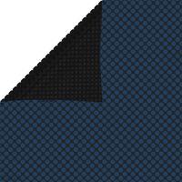 vidaXL Película p/ piscina PE solar flutuante 260x160 cm preto e azul