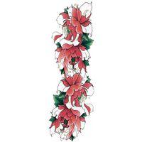 Flores De Braço Inteiro Fingir Tatuagem