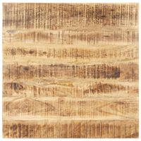 vidaXL Tampo de mesa madeira de mangueira maciça 15-16 mm 80x80 cm