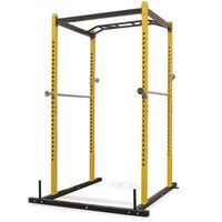 vidaXL Torre de musculação 140x145x214 cm amarelo e preto