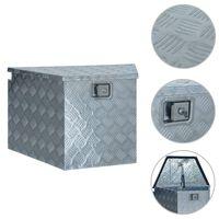 vidaXL Caixa arrumação em alumínio 737/381x410x460 mm prateado