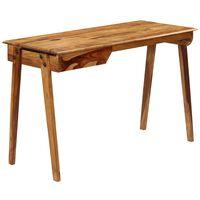 vidaXL Secretária em madeira de sheesham maciça 118x50x76 cm