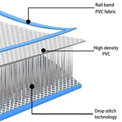 vidaXL Colchão de ginástica insuflável c/ bomba 800x100x20 cm PVC azul