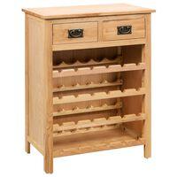 vidaXL Armário para vinhos 72x32x90 cm madeira carvalho maciça