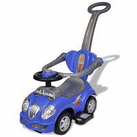 Carro motorizado azul com barra de proteção