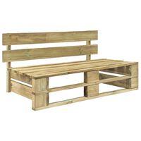 vidaXL Banco de paletes para jardim madeira