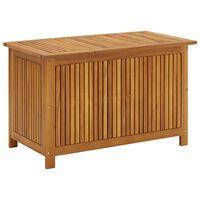vidaXL Caixa arrumação para jardim 90x50x58cm madeira acácia maciça
