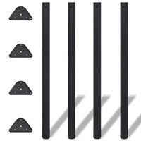 Pernas de mesa ajustáveis em altura, 4pcs, preto, 1100 mm