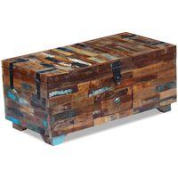 vidaXL Mesa de centro bau/caixa, madeira reciclada sólida 80x40x35  cm
