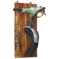 vidaXL Candeeiro de parede c/ design de scooter ferro/mangueira maciça