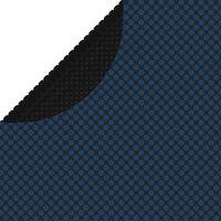 vidaXL Película p/ piscina PE solar flutuante 527 cm preto e azul