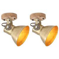 vidaXL 2 pcs candeeiros parede/teto industriais 20x25 cm E27 bronze