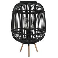 vidaXL Suporte para vela independente em bambu preto