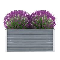 vidaXL Canteiro elevado de jardim aço galvanizado 100x40x45cm cinzento