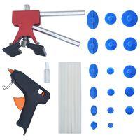 vidaXL 26 pcs conjunto ferramentas reparação de mossas sem repintura