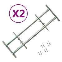 vidaXL Grades de segurança ajustáveis para janelas 2 pcs 700-1050 mm