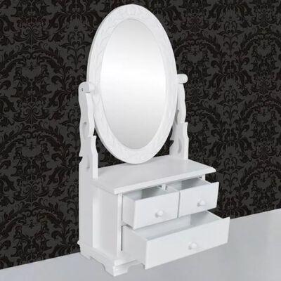Toucador com espelho oval