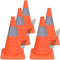 5 pop-up cones de sinalização 42 cm