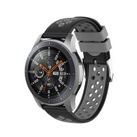 Pulseira de silicone Samsung Gear S3 Frontier / Classic Black / Grey