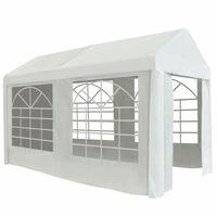 vidaXL Tenda para festas PE 2x4 m branco