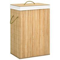 vidaXL Cesto para roupa suja 72 L bambu