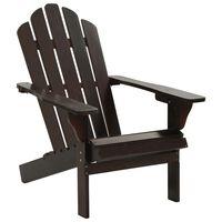 vidaXL Cadeira de jardim madeira castanho