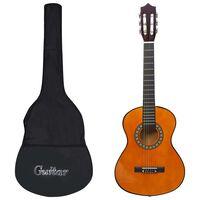 """vidaXL Guitarra clássica iniciantes/crianças com saco 1/2 34"""""""