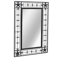 vidaXL Espelho de parede para jardim retangular 50x80 cm preto