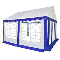 vidaXL Tenda de jardim PVC 3x4 m azul e branco