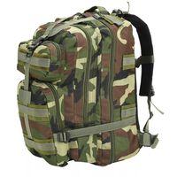 vidaXL Mochila estilo exército 50 L camuflagem