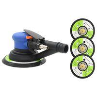 vidaXL Lixadeira orbital pneumát. auto-aspiração almofada lixar 150 mm
