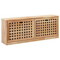 vidaXL Sapateira 94x20x38 cm madeira de nogueira maciça