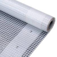vidaXL Lona em tecido imitação de gaze 260 g/m² 4x15 m branco