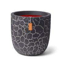 Capi Vaso oval Clay 43x41 cm antracite