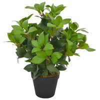 vidaXL Planta loureiro artificial com vaso 40 cm verde