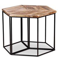 vidaXL Mesa de centro madeira de mangueira maciça 48x48x40 cm
