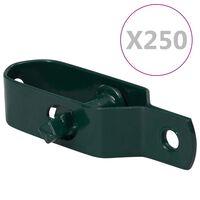vidaXL Tensores de arame para cerca 250 pcs 90 mm aço verde