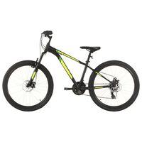 vidaXL Mountain Bike 21 Speed 27,5 inch Wheel 38 cm Black (92346+92349)