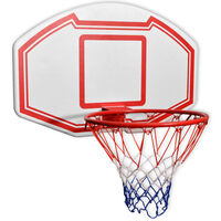 vidaXL Conjunto tabela basquetebol p/ montar na parede 3 pcs 90x60 cm