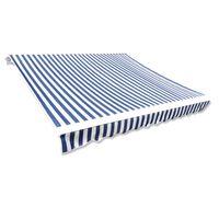 vidaXL Lona para toldo azul/branco 3 x 2,5 m (sem estrutura/caixa)