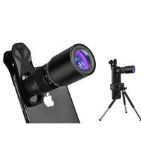 Lente para celular com zoom 18x com tripé - preto